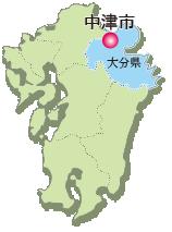 中津市の位置